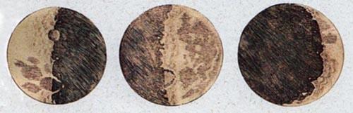Disegni di luna di Galileo Galilei - Sidereus Nuncius